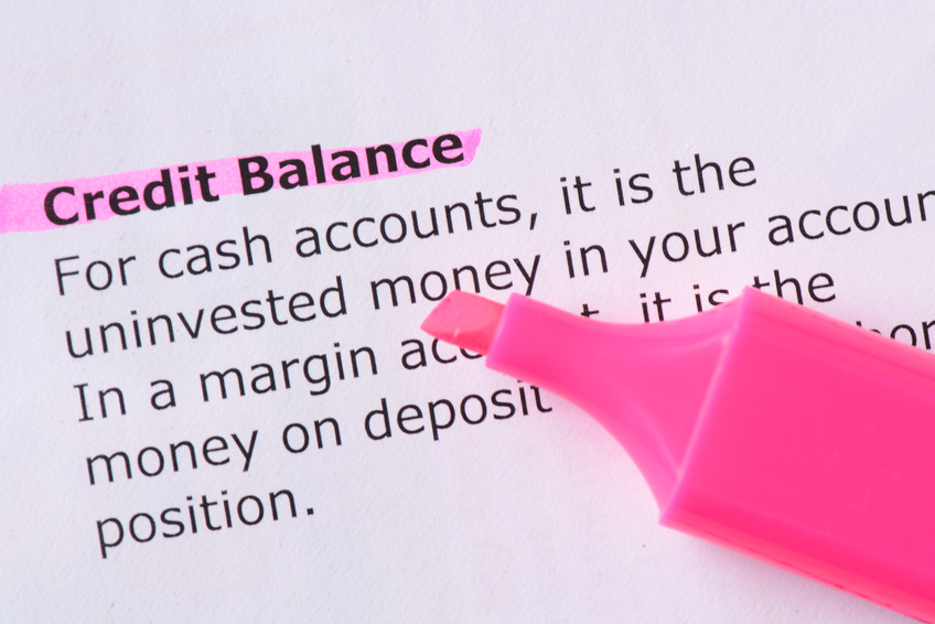 Image: Credit balance definition written in Plain English