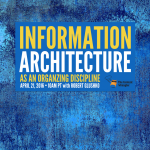 [Webinar] Information Architecture as an Organizing Discipline