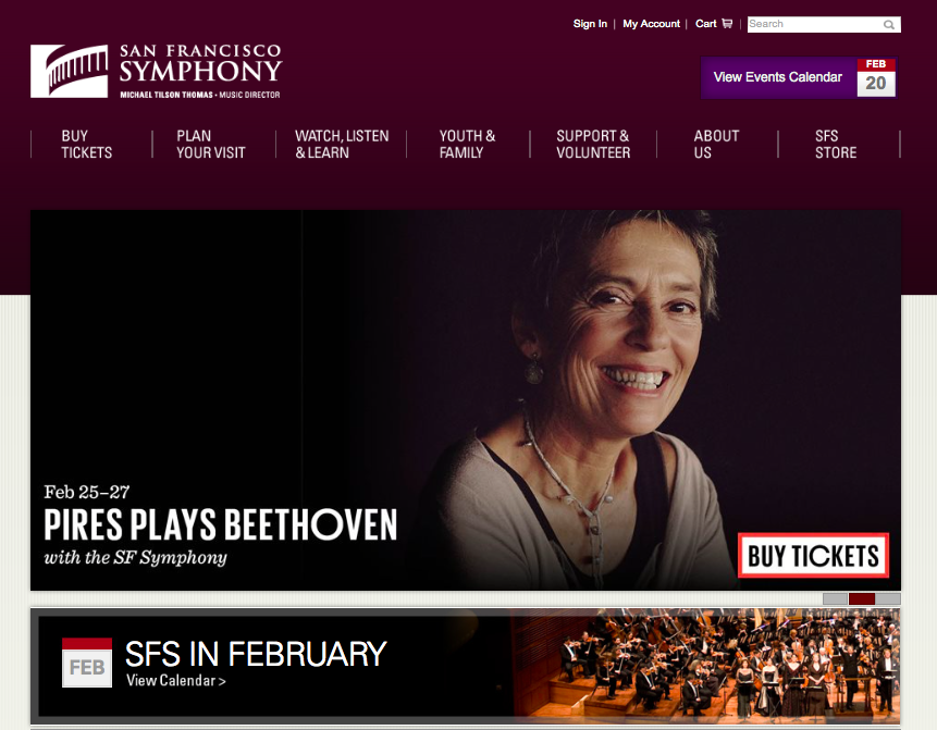 San Francisco Symphony Orchestra website