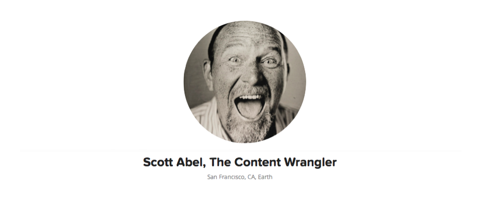 Image: Gravatar of Scott Abel, The Content Wrangler