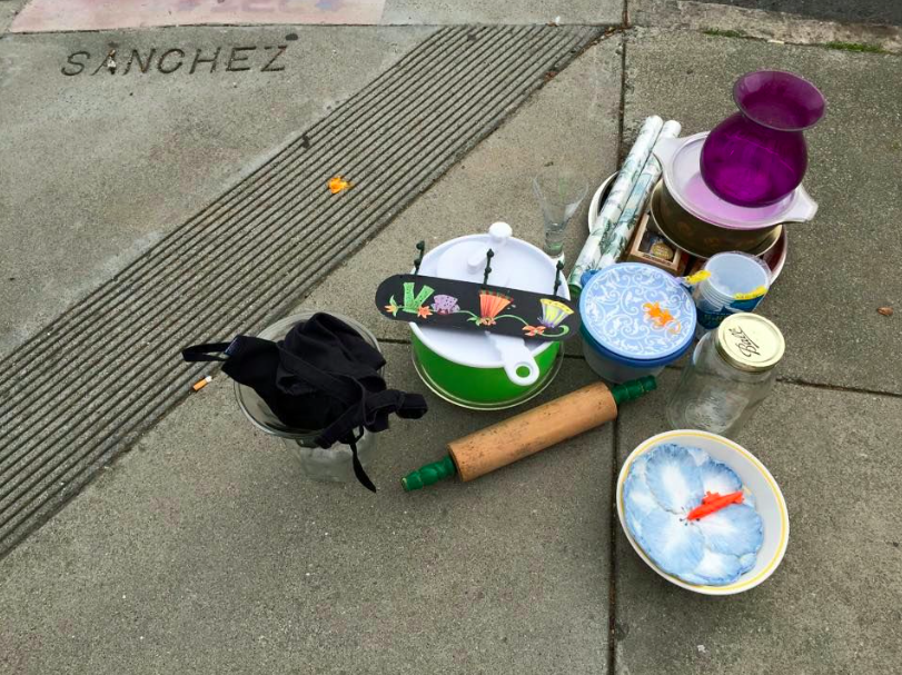 Image: Random items spotted at the corner of Elizabeth and Sanchez, Noe Valley, San Francisco, CA