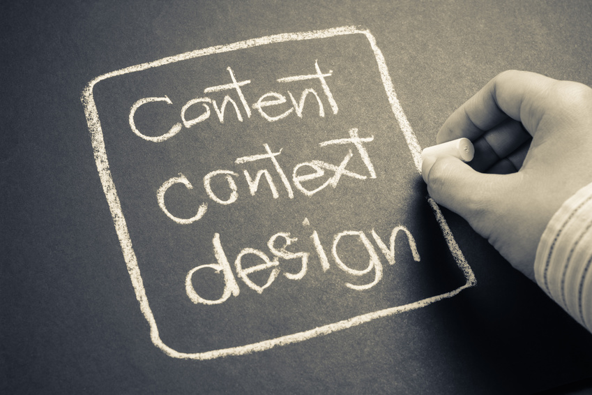 Image: Content, context, and design work together