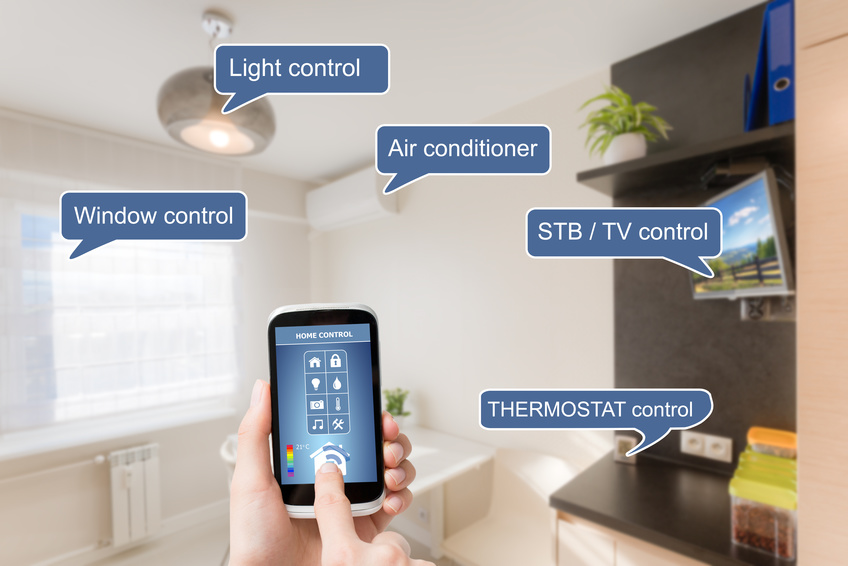 Image: Home automation system and smart devices