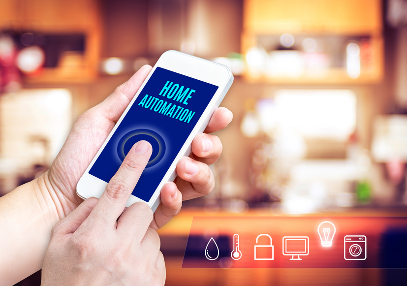 Image: Home automation app on a smart phone