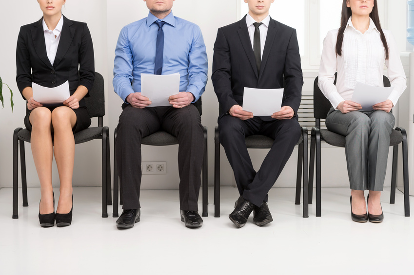 Image: Job candidates waiting for interview